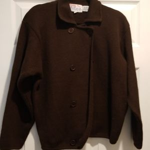 Tally-Ho vintage brown double breasted sweater